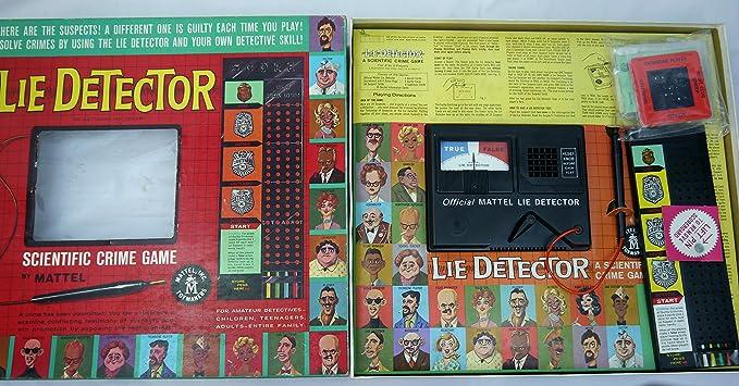 Amazoncom Lie Detector A Scientific Crime Game 1960 Toys Games