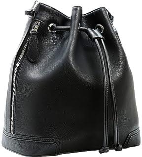 cca4e9d026 Kenoor Leather Drawstring Bucket Bag Retro Handbags Shoulder Bag Purses  Crossbody Bags For Women with Long