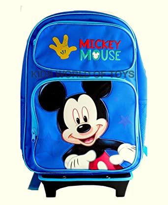 5ff99cce354 Image Unavailable. Image not available for. Color  Disney Mickey Mouse  Rolling Backpack ...