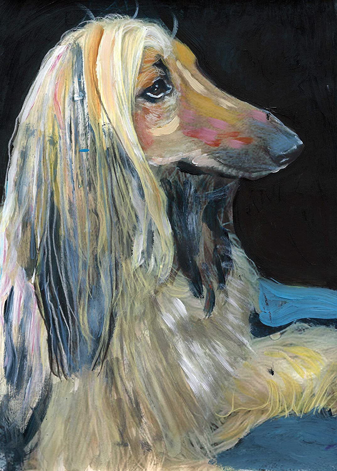 AFGHAN HOUND ORIGINAL VINTAGE DOG PRINT PAGE 1934 A TEAM OF AFGHANS