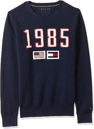 Tommy Hilfiger Boy's 1985 TH Sweater, Blue (Black Iris 002), 14