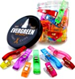 Magic Clips, Super 100 Pack - 75+25 Bonus Jumbo Clips - Vibrant Colors, All Purpose Craft Clips - Perfect as Sewing Clips, Quilting Clips & More