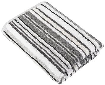 Decotex Urbanite Stripe Hand Towel Silver Black Amazoncouk