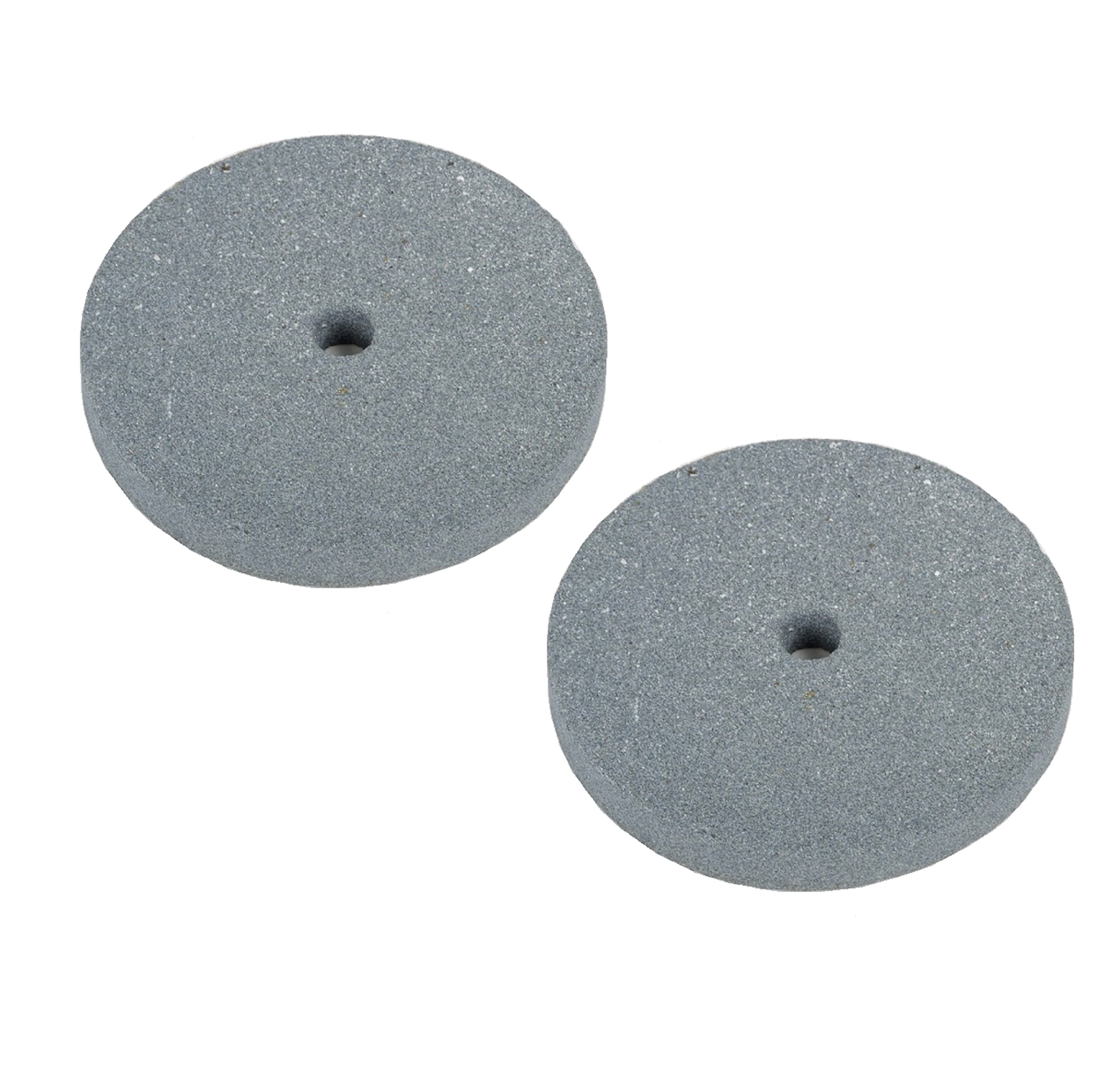 WennoW (2 PC) 6'' Emory Style Grinding Stone Wheel for Bench Grinders - 3/4'' Thick (Fine)
