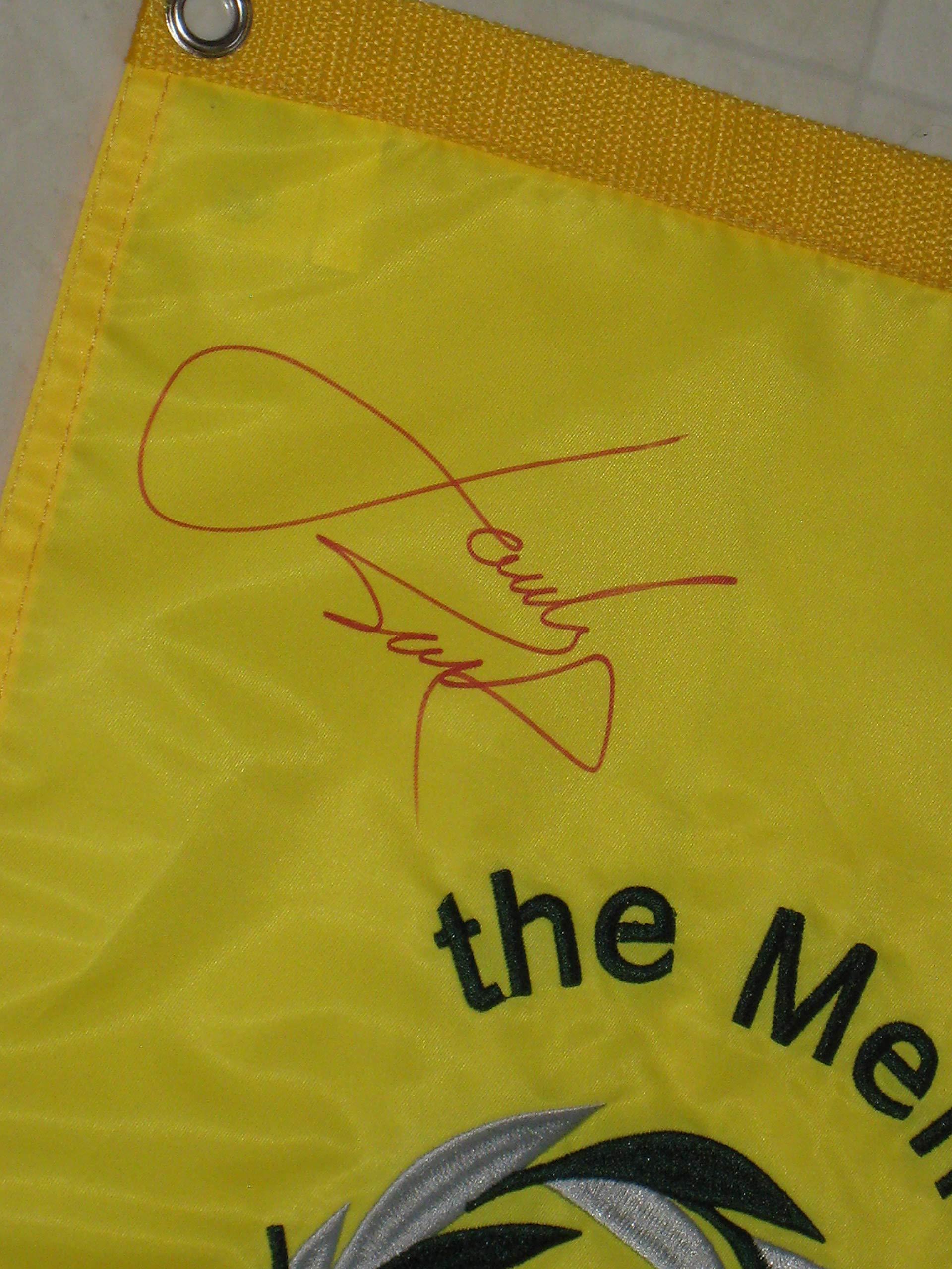 Jordan Spieth signed Memorial Tournament PGA Tour Golf Pin Flag JSA Letter