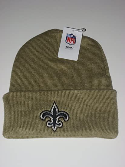 Image Unavailable. Image not available for. Color  NFL NEW ORLEANS SAINTS  Gold Cuffed Knit Beanie ... 7c9bceea8