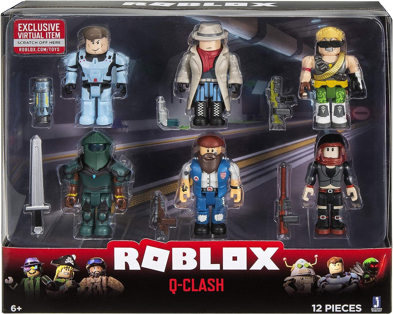 Amazon Com Roblox Action Collection Q Clash Six Figure Pack