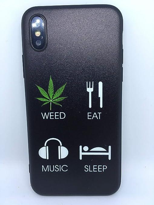 iphone x coque weed