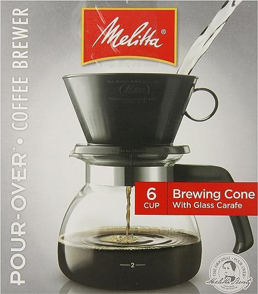 Amazon.com: Melitta Filtro de cono 6 tazas Cafetera (Pack de ...
