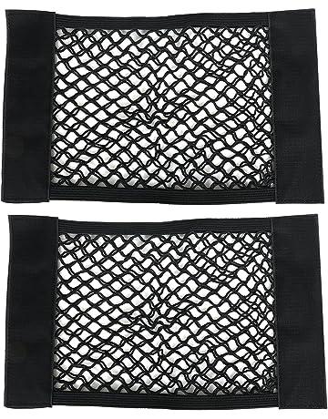 TRIXES Paquete de Dos Piezas Redes de Almacenaje, con Gancho y Lazo, Red Ajustable