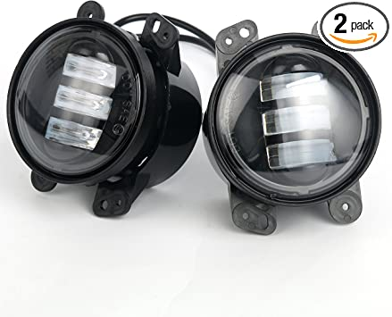 """FIT 2011 2012 2013 2014 Dodge Charger 4/"""" LED Fog Lamps Driving Light Pair"""