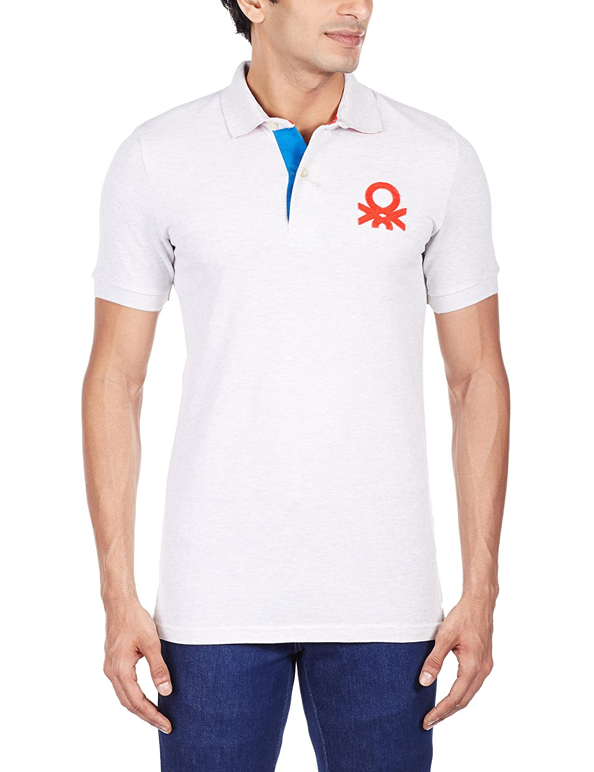 United colors of benetton mens polo united colors of benetton mens polo 890323990075715p3089j1240ixx largegrey melange amazon clothing accessories geenschuldenfo Image collections