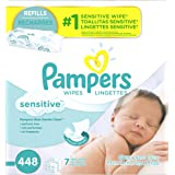 Pampers Sensitive Water Baby Wipes 7X Refill Packs, 448 Count