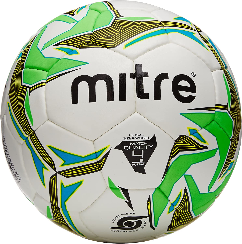 Mitre Nebula Match Futsal Ball - White/Black/Green, Size 4: Amazon ...