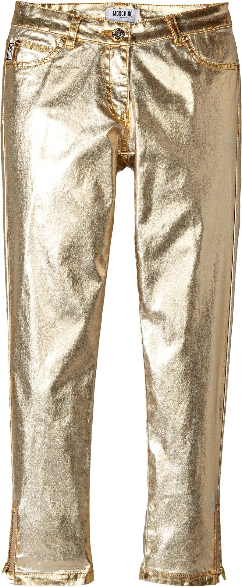 Moschino Kids Girl's Pants w/Logo on Back Pockets (Big Kids) Gold 14 Big Kids