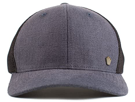 low priced 26ed1 bfd1f No Bad Ideas Isiah Mesh Flexfit Hat Gry Blk (Small Medium)