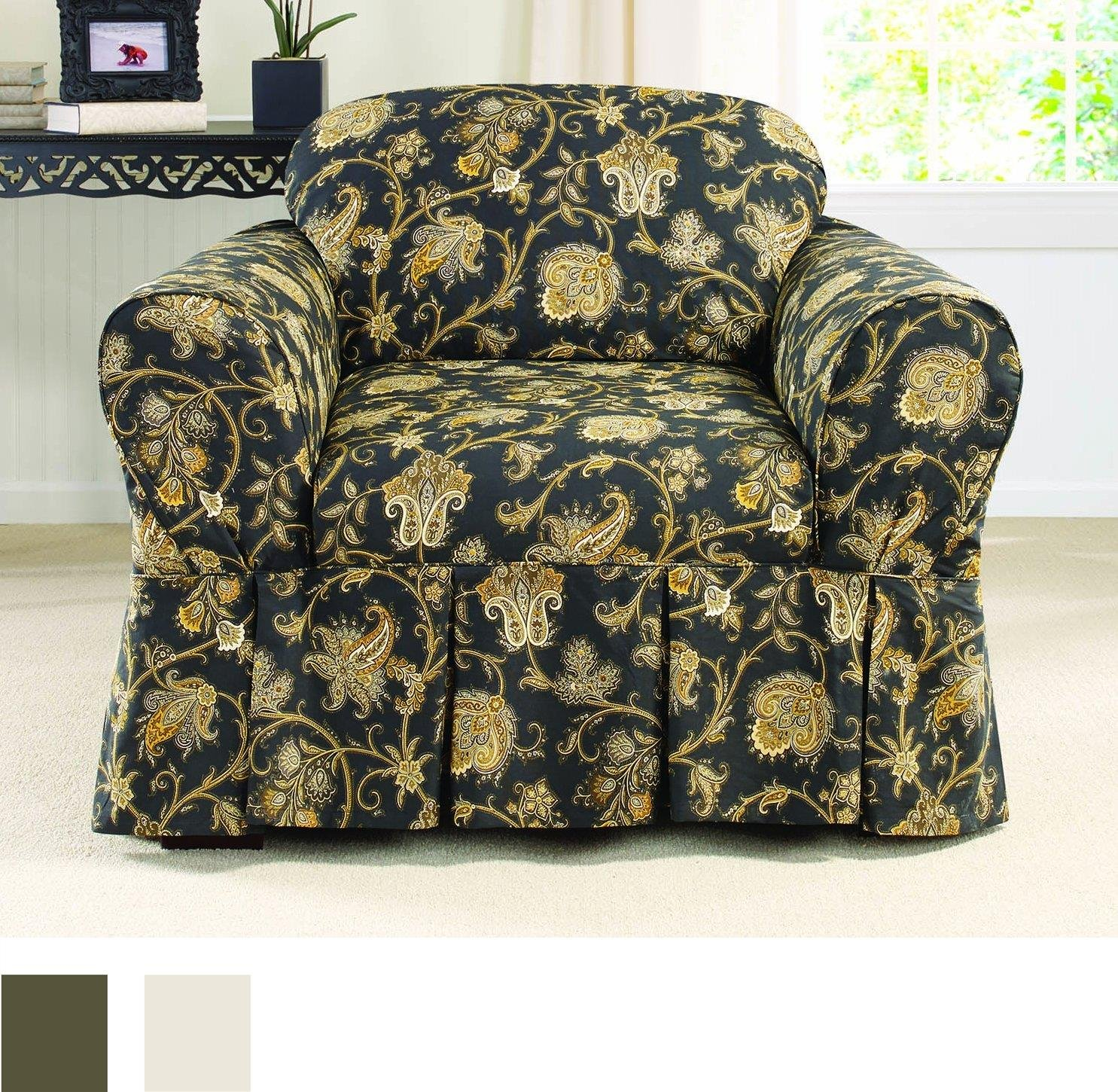 Amazon Sure Fit Tennyson 1 Piece Sofa Slipcover Topaz