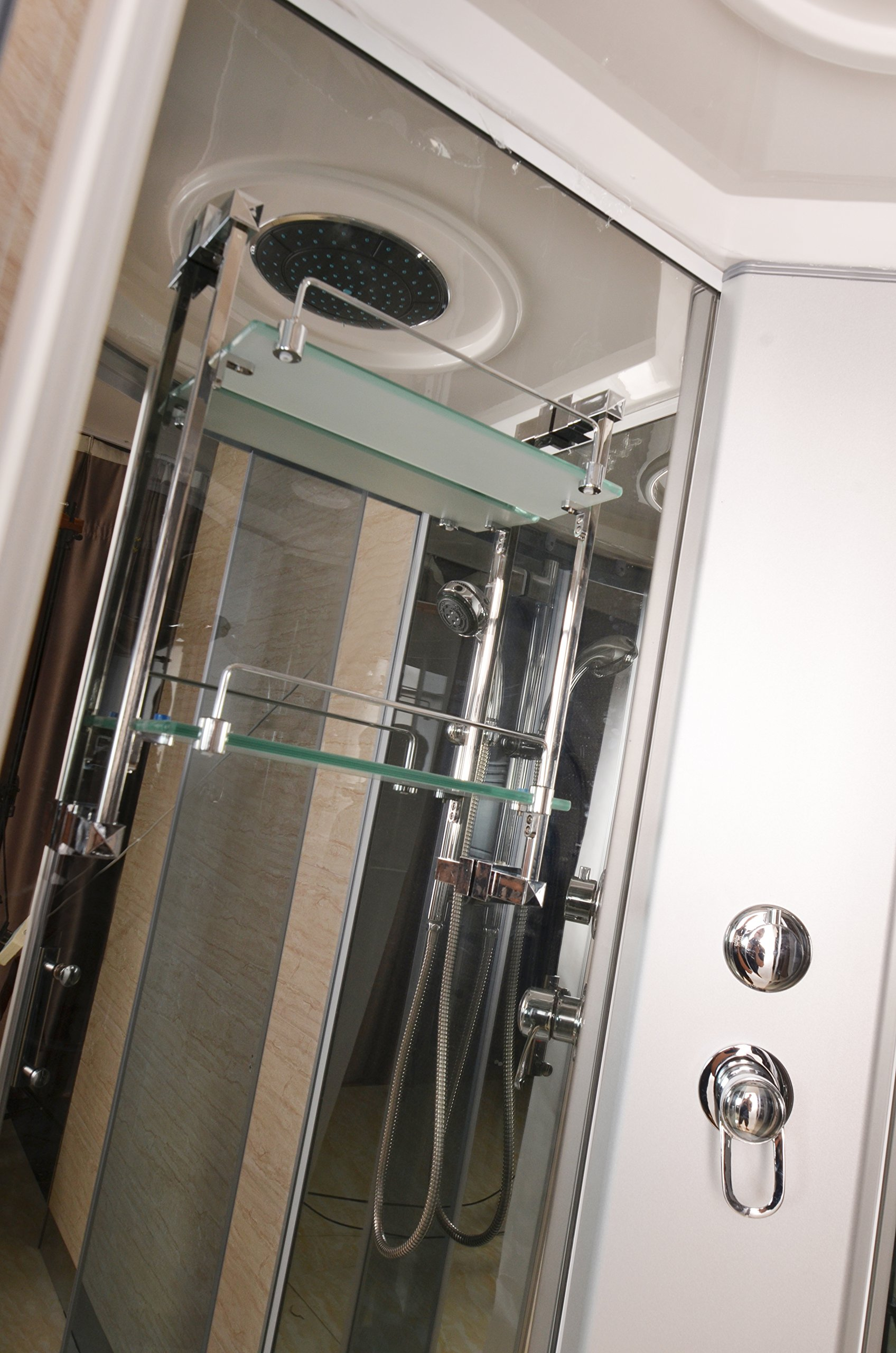 Luxury Kokss 9040 Shower enclosure 36'' x 36'' Multi function hand shower overhead rain, 3 body massage jets and LED Lights with touch screen computer by bath masters (Image #2)