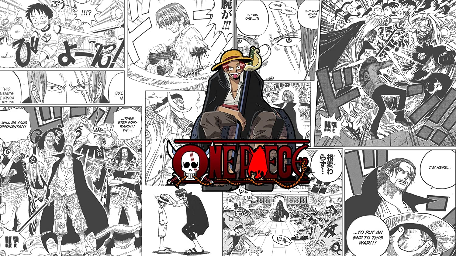 Athah Designs Anime One Piece Shanks Matte Finish Wall