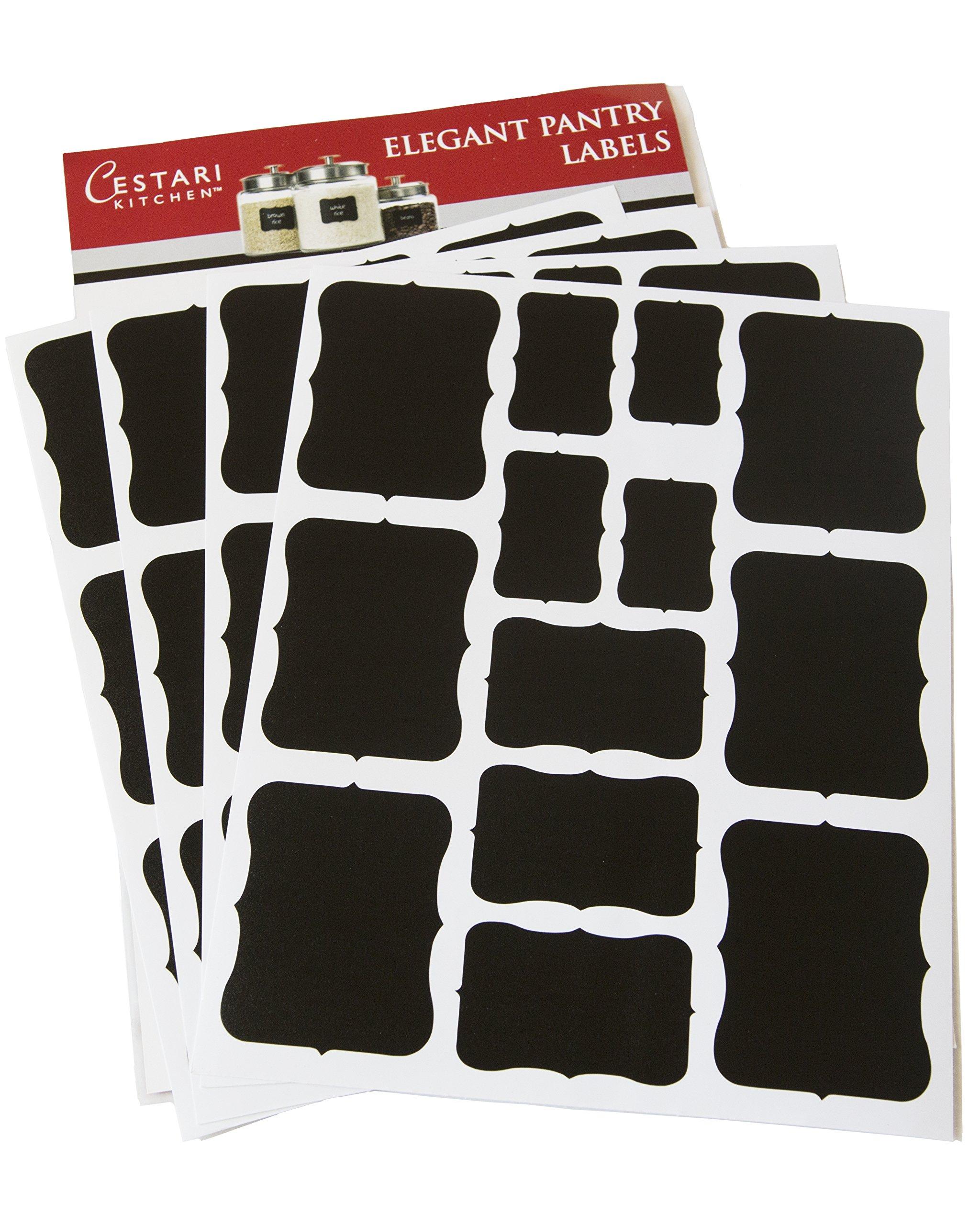 Chalkboard Labels Set Of 52 Assorted Premium Reusable Decorative