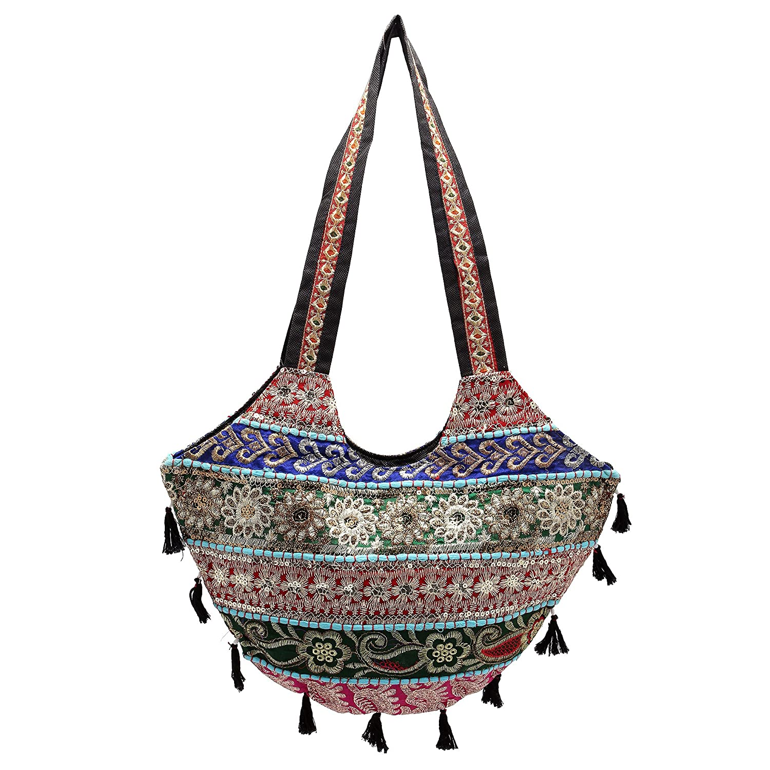 Rastogi Handicraftsレディースカジュアル上品shoulder-handbags B013QW3LF4  マルチ 50.8X50.8X30.48