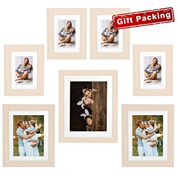 2e99c9cb5eb1 Painting Photo Frame 7 Pack Vertical or Horizontal Multiple Light Wooden  Color- 11x14 Frame(