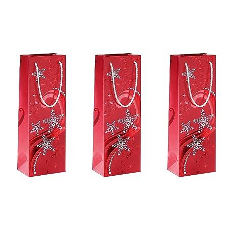 Amazon.com: Sigel diseño de onda bolsa de regalo de Navidad ...