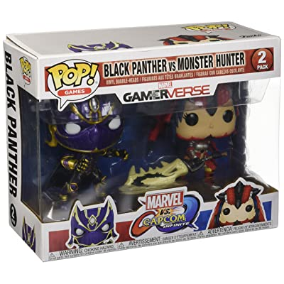 Funko Pop! Games: Marvel Vs Capcom - Black Panther vs Monster Hunter Collectible Figure: Funko Pop! Games:: Toys & Games