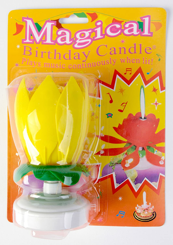 The amazing singing opening flower happy birthday candle pink the amazing singing opening flower happy birthday candle pink amazon home kitchen izmirmasajfo