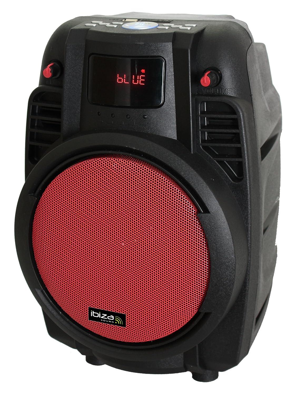 Ibiza Sound POWER PORT R Megafonía portátil con rejilla color rojo