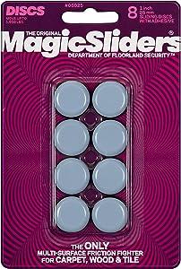 "MAGIC SLIDERS L P 8025 Series 8PK 1"" RND Slide Disc, 1, Blue"