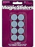Magic SLIDERS L P 8025 Series 8PK Disco deslizante RND de 1 pulgada, color azul