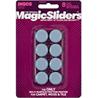 "MAGIC SLIDERS L P 8025 Series 8PK 1"" RND Slide Disc, 1, Blue"