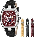 Steinhausen Women's LW393-SR Tonneau Marquise Analog Display Automatic Self Wind Black Watch Set