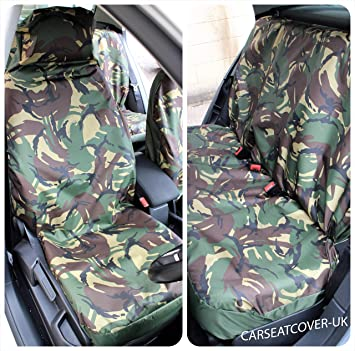 Green DPM Camouflage Camo Waterproof Car//Van Universal Single Seat Cover