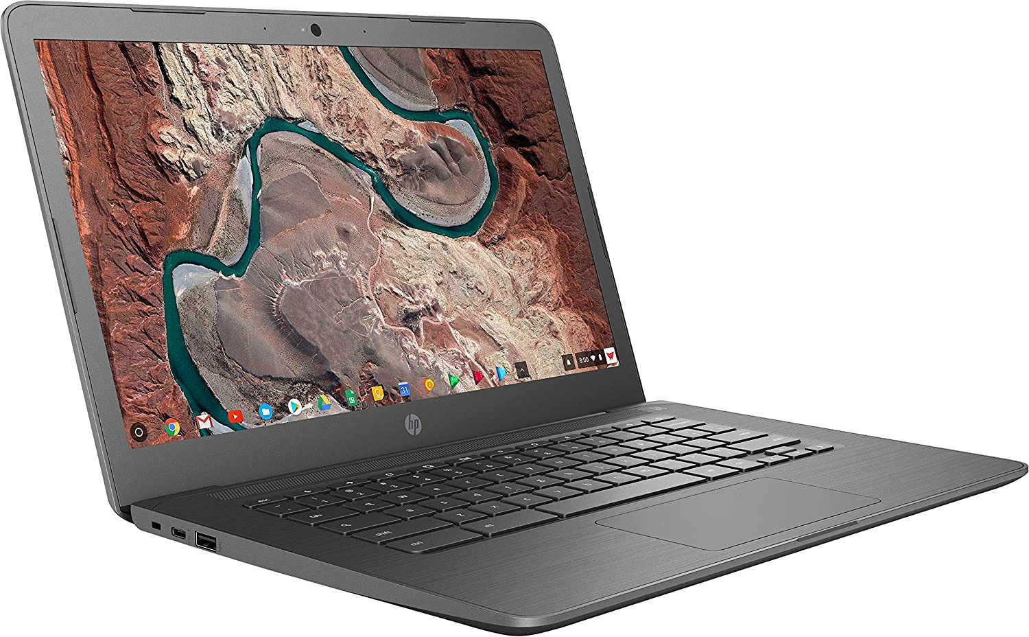 "2019 New HP Chromebook 14"" FHD IPS Anti-Glare Micro-Edge (1920 x 1080), AMD Core A4-9120, 4GB DDR4, 32GB, Webcam, 802.11ac, Bluetooth 4.2, USB 3.1 Type-C + Sleeve + Wireless Mouse (Renewed)"