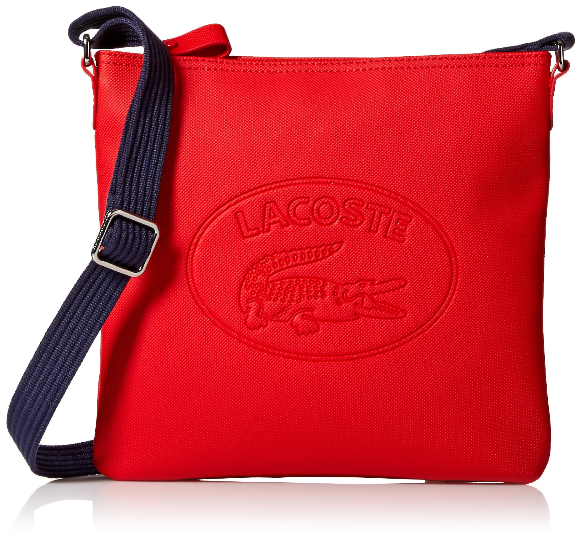 Lacoste Flat Crossover Bag, Nf2420wm, High Risk Red Peacoat