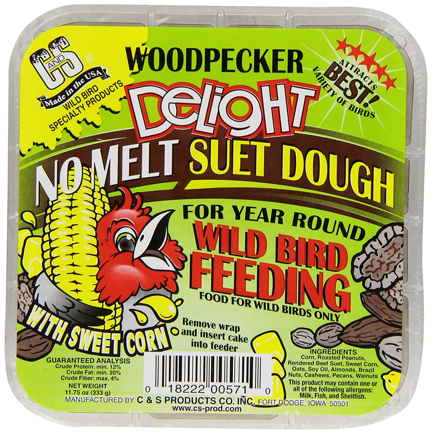C&S Products CS12571 Woodpecker Delight Woodpecker Snack