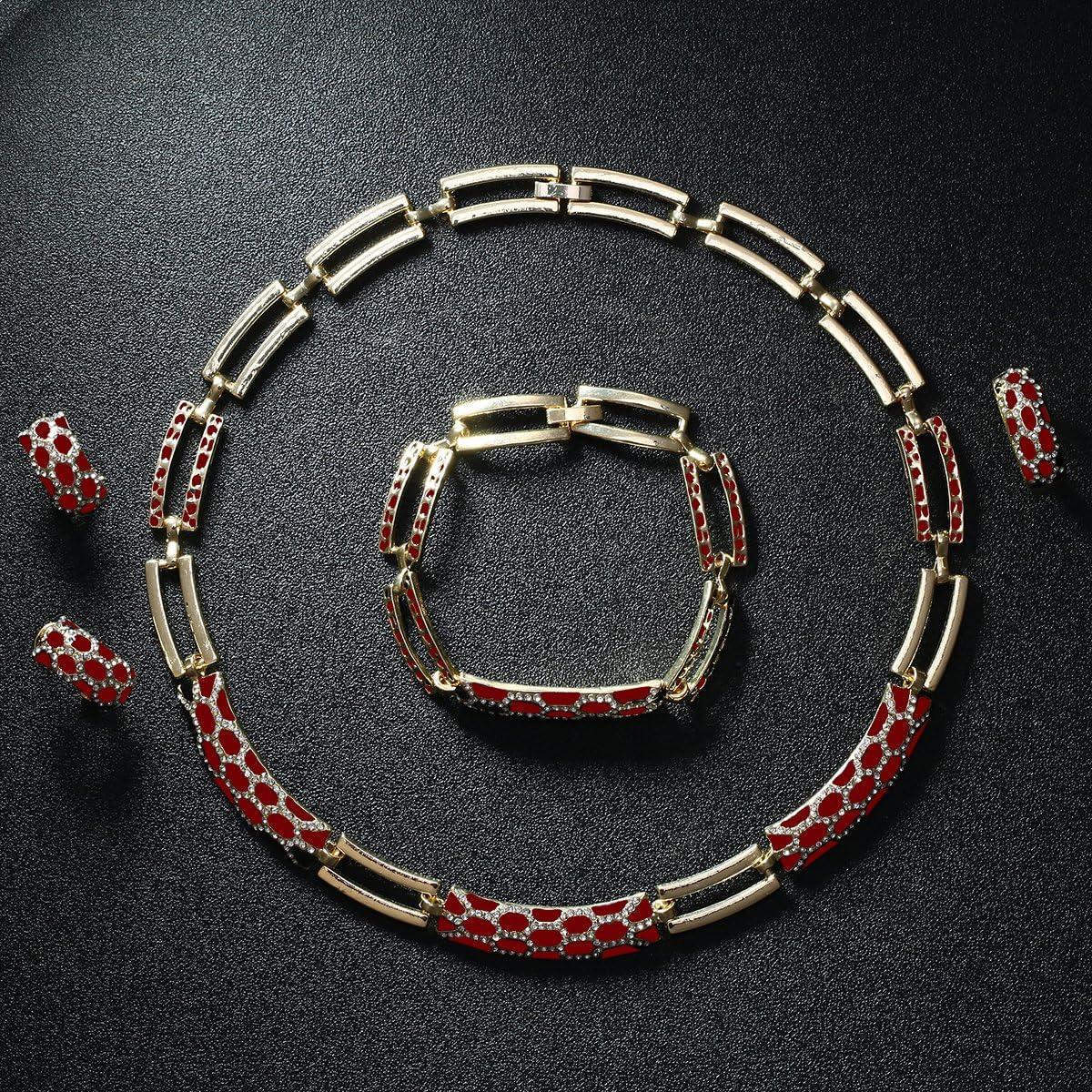 IFFURMON Fine Jewelry Sets Wedding 18K Gold Plated For Women Dress Accessories