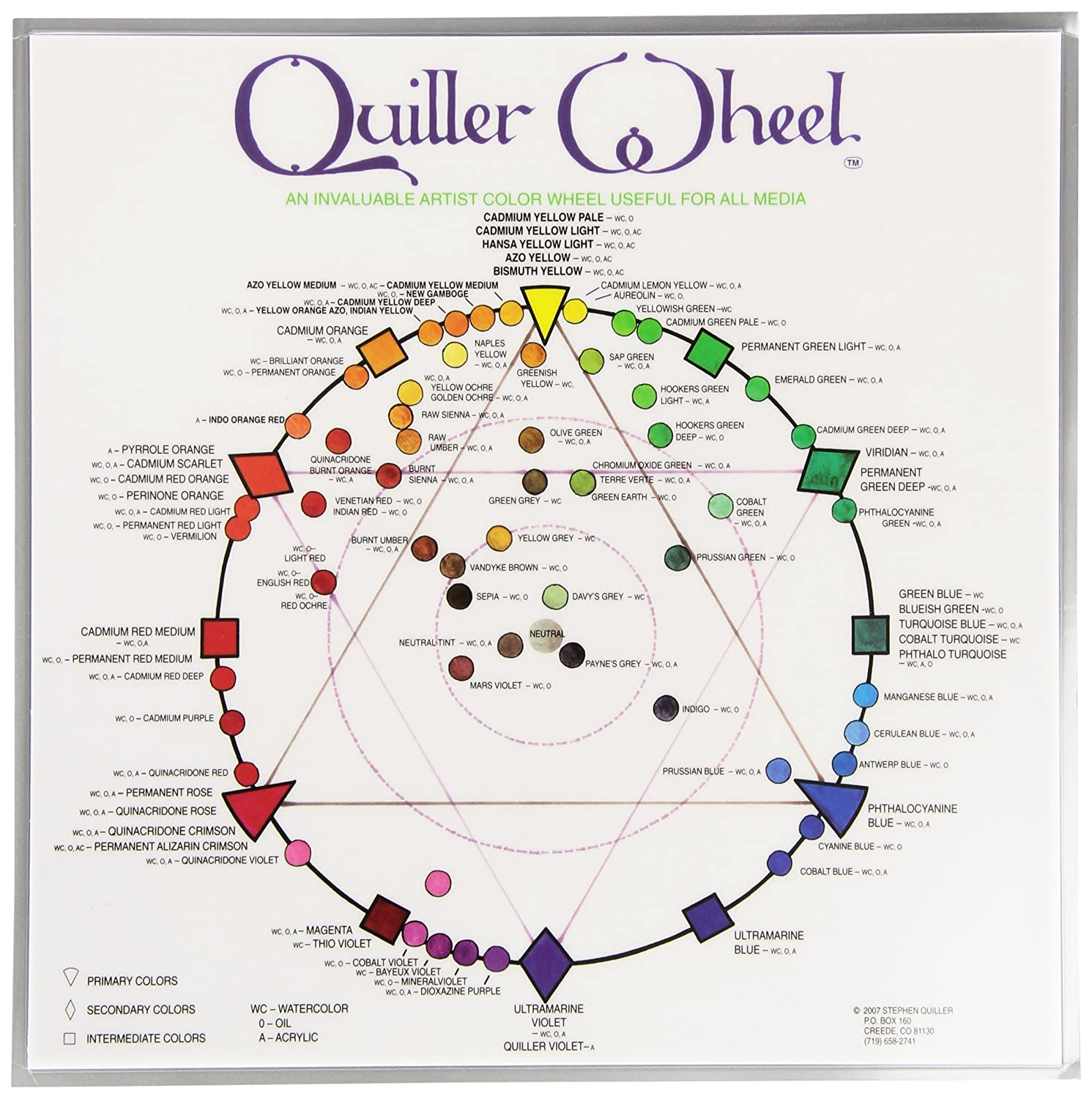Jack Richeson JACK-499987 Quiller Color Wheel for All Media by Stephen Quiller 8.5 by 8.5-Inch