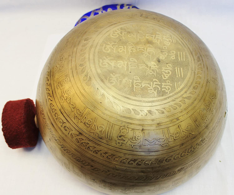 "J666 Energetic Throat G# Chakra Healing 5/"" Hand  Hammered Tibetan Singing Bowl"