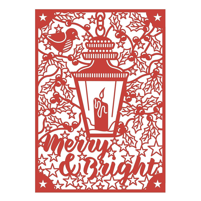 5x7 Merry /& Bright First Edition Stanzschablonen Craft A Card Weihnachten