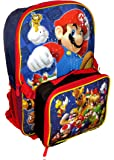 Nintendo Super Mario Bros Backpack with Detachable Insulated Lunch Box Pack