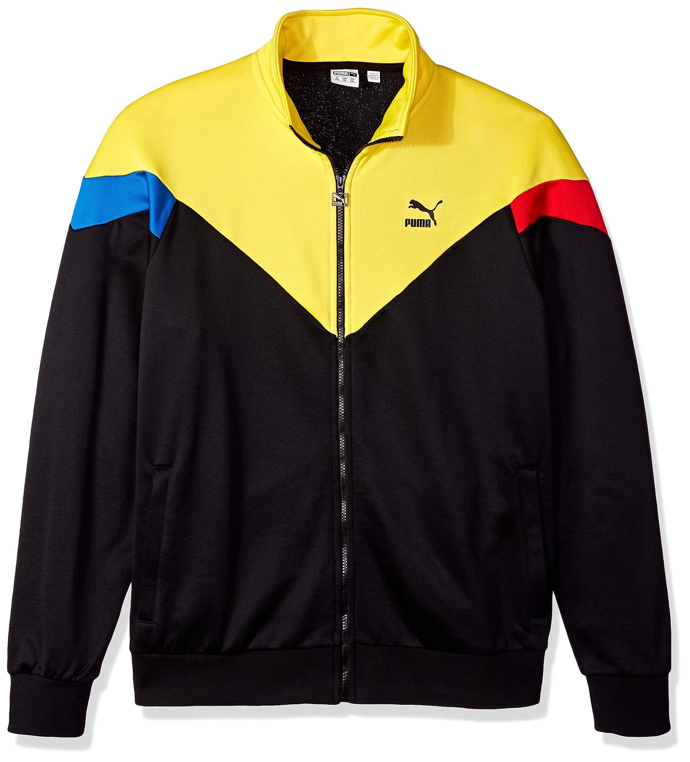 PUMA Men's MCS Track Jacket, Black/Yellow, M by PUMA