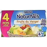 Nestlé Bébé Naturnes Fruits du Verger - Compote dès 6 Mois - 4 x 130g - Lot de 3