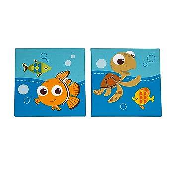 Amazon.com : Disney Finding Nemo 2 Piece Wall Decor, Blue : Baby