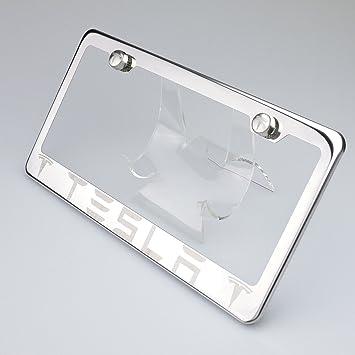 Amazon.com: 100% Stainless Steel Tesla Laser Engrave Chrome Mirror ...