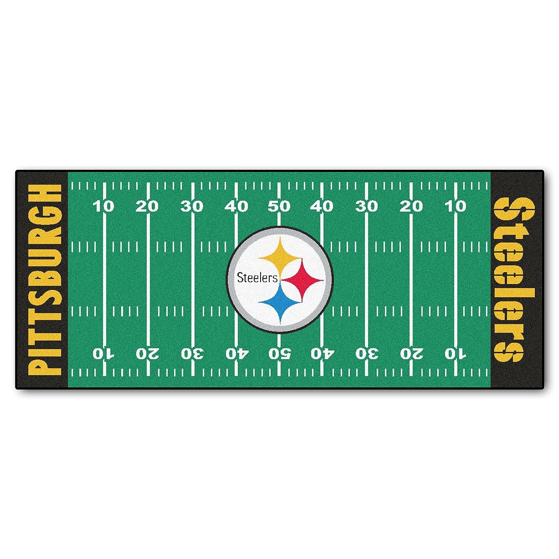 Amazon.com: Fanmats NFL Pittsburgh Steelers Nylon Face Football ...