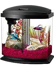 Aqueon LED Bettabow Aquarium Starter Kits with LED Lighting, 2.5 Gallon Betta, Black