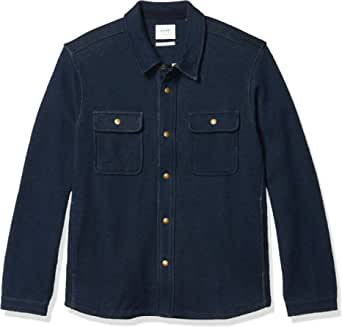 Billy Reid Long Sleeve Brass Snap Knit Shirt Jacket